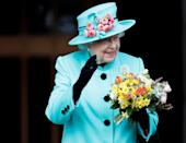 <p>Queen Elizabeth II waves to onlookers as she leaves the Easter Sunday service at St George's Chapel at Windsor Castle in Berkshire (PA Archive) </p>