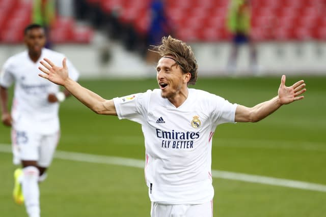 Luka Modric came off the bench to score Real Madrid's third goal late on