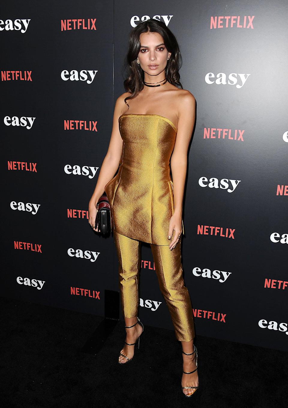 <p>The skirts over trousers trend is one that's slowly clawing its way back into fashion, with Emily being one of the first celebs to wear the unusual combo. Naturally, she had us nodding in agreeance.<br>[Photo: Getty] </p>