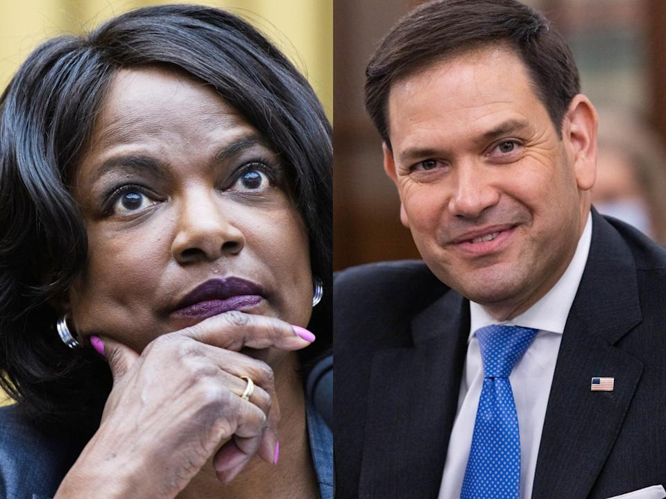 Ex-police chief Val Demings trolls Marco Rubio 'far left extremist' claims as she targets his Senate seat (Getty)