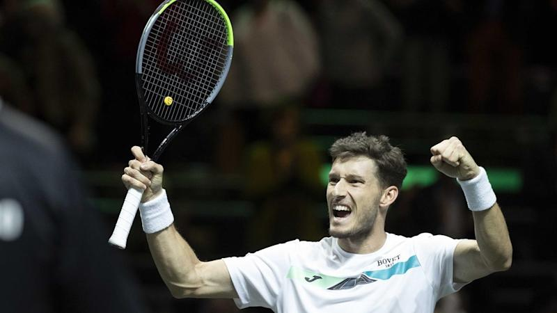 Pablo Carreno Busta is into the Rotterdam Open semifinals after beating wildcard Jannik Sinner