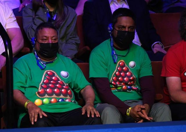 Snooker fans inside the Crucible at the World Snooker Championship