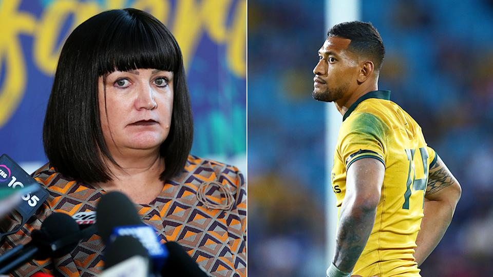 Israel Folau has launched proceedings with the Fair Work Commission over his sacking.
