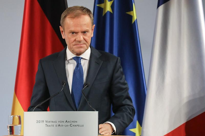 Donald Tusk's comment caused outrage in Westminster (AFP/Getty Images)