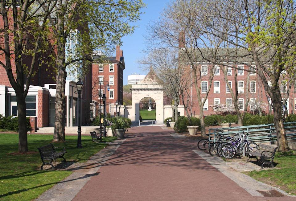 """<p><strong>Established in 1764</strong></p><p><strong>Location: Providence, Rhode Island<br></strong></p><p>In 1764, Brown became the first college in the U.S. to admit students regardless of their <a href=""""https://www.brown.edu/about/history/timeline/"""" rel=""""nofollow noopener"""" target=""""_blank"""" data-ylk=""""slk:religious background"""" class=""""link rapid-noclick-resp"""">religious background</a>. In 1891, they started allowing women into the school. It was also one of the doctoral-granting colleges in the country. <br></p>"""