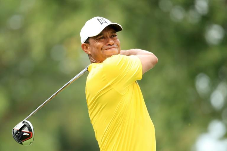 Tiger Woods charged in Saturday's third round of the US PGA BMW Championship (AFP Photo/Andrew Redington)