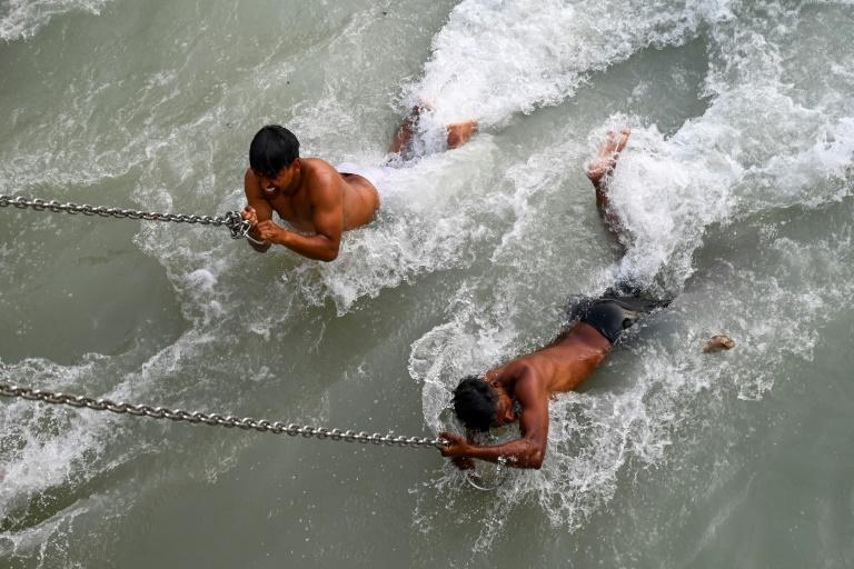 Hindus believe bathing in the Ganges will cleanse their sins and bring salvation