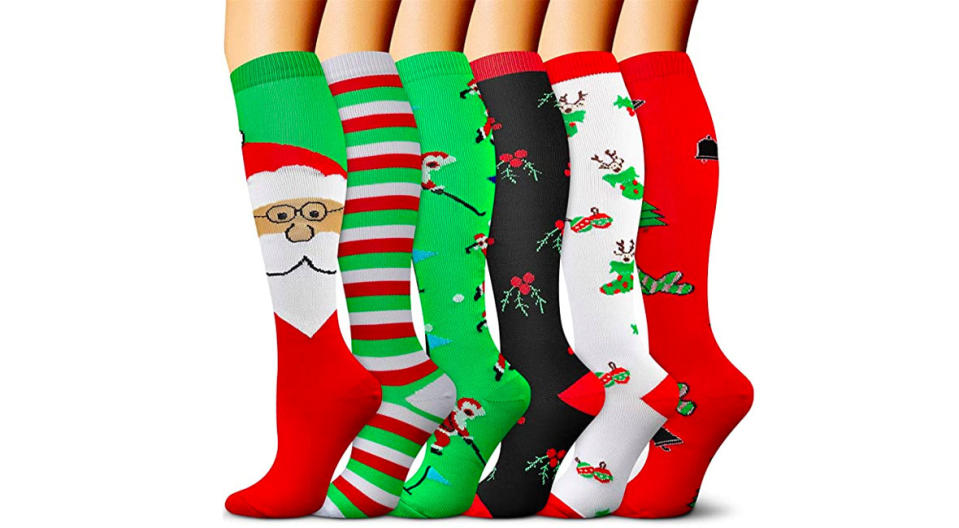 Christmas Compression Socks (Photo: Amazon)