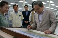 Samsung group chairman Lee Kun-hee visits a business site in Vietnam
