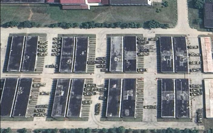 A satellite image shows the deployment of amphibious armoured vehicles in the PLA's Eastern Theatre Command - Kanwa Defence Review