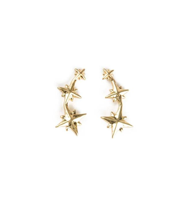 "<p>Alya Earrings Gold, $65, <a href=""http://tuttiandco.com/jewellery/alya-earrings-gol"" rel=""nofollow noopener"" target=""_blank"" data-ylk=""slk:tuttiandco.com"" class=""link rapid-noclick-resp"">tuttiandco.com</a> </p>"