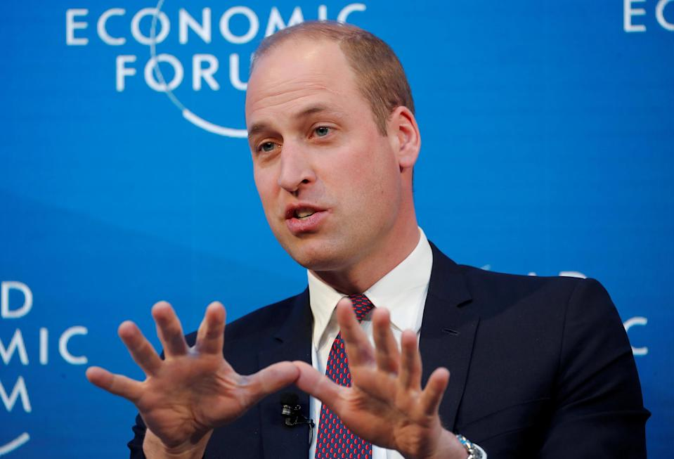 Prince William at Davos. Photo: REUTERS/Arnd Wiegmann