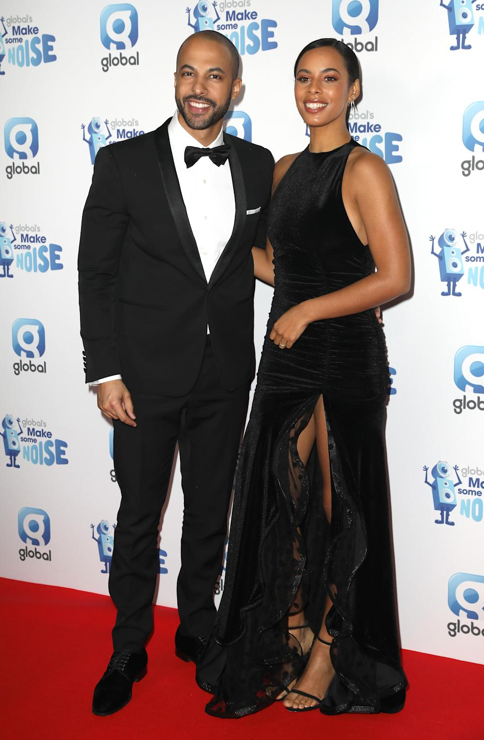 <p>Rochelle wore a gown by British brand Zeynep Kartal while Marvin looked dapper in a tux. <em>[Photo: Getty]</em> </p>