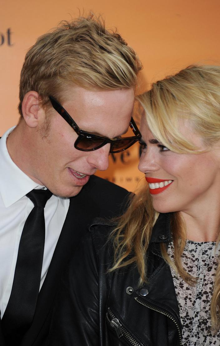 Laurence Fox with his ex-wife Billie PiperGetty Images