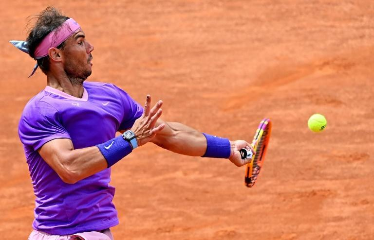 Spain's Rafael Nadal is on track for a 10th Rome title.