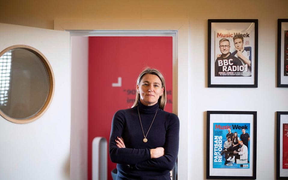 Zillah Byng-Thorne, Chief Executive of Future PLC in the company's London HQ - David Rose/Telegraph