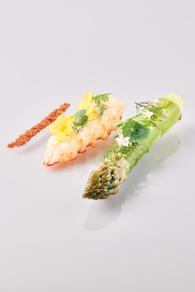 Green Asparagus Langoustine. (PHOTO: JAAN by Kirk Westaway)