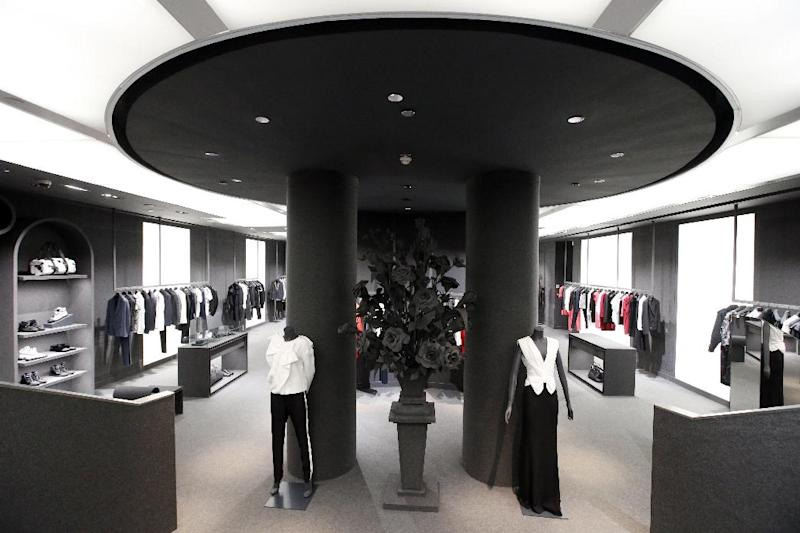 Interior view of the basement of the new Viktor and Rolf shop of Netherlands' fashion designers Viktor Horsting and Rolf Snoeren, in Paris, Wednesday, Dec. 11, 2013. Viktor&Rolf, the Amsterdam-based avant-garde fashion house, opens its first ever flagship boutique in France in Paris. (AP Photo/Francois Mori)