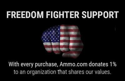 With every purchase, Ammo.com donates 1% to a pro-freedom organization.