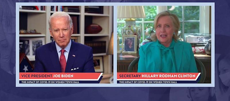 Former vice president recently held virtual campaign event with 2016 nominee Hillary Clinton: Getty