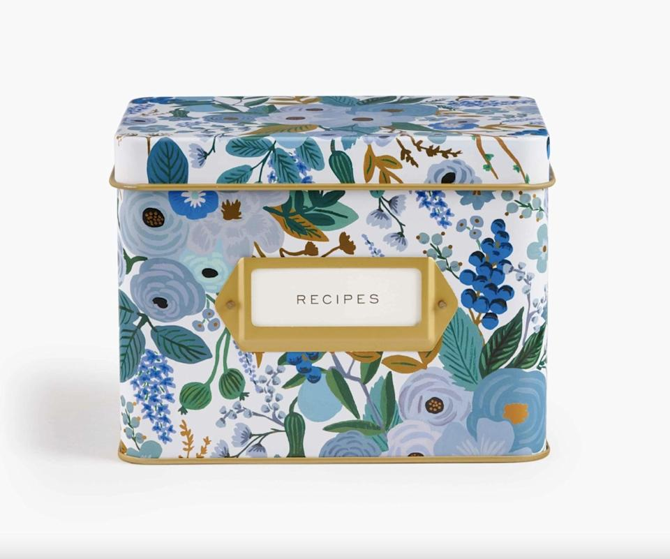 <p>This <span>Rifle Paper Co. Recipe Tin</span> ($34) is absolutely stunning.</p>