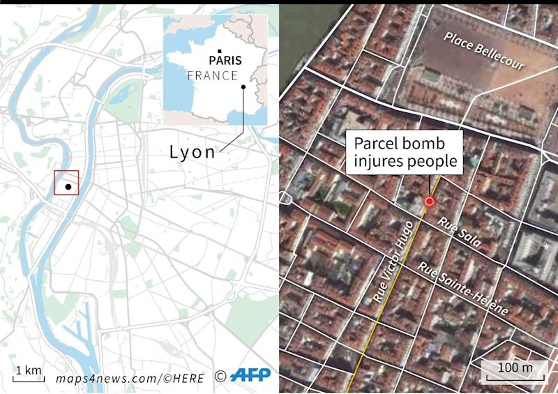 Several hurt in package bomb blast in France's Lyon (AFP Photo/Simon MALFATTO)