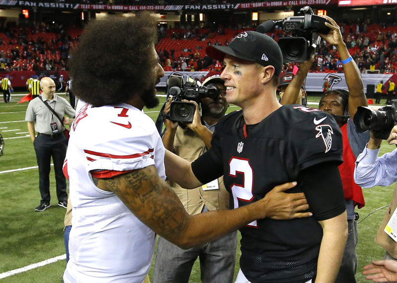 Matt Ryan advocated for Colin Kaepernick's return to the NFL on Tuesday. (Photo by Todd Kirkland/Icon Sportswire via Getty Images)