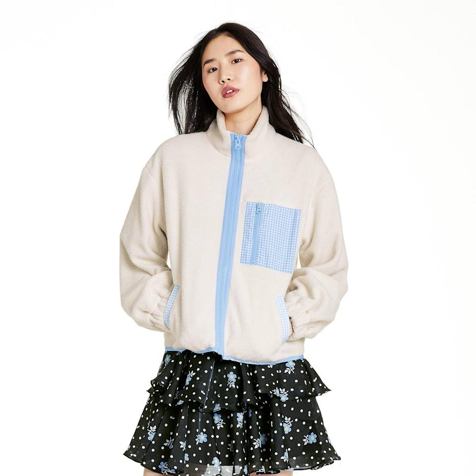 <p>We can't say no to a cozy sherpa jacket, and this <span>Sandy Liang x Target Gingham Pocket Sherpa Jacket</span> ($55) is no exception. The cute gingham pocket sold us.</p>