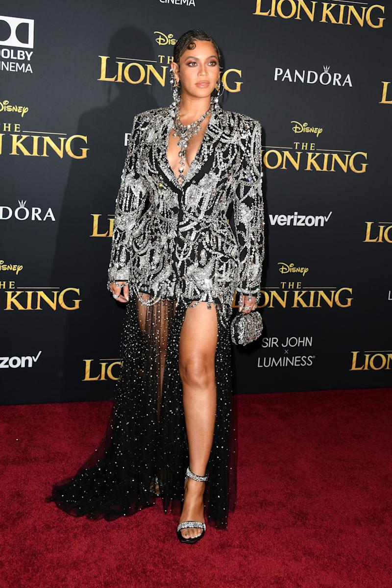 "HOLLYWOOD, CALIFORNIA - JULY 09: Beyoncé attends the premiere of Disney's ""The Lion King"" at Dolby Theatre on July 09, 2019 in Hollywood, California. (Photo by Jon Kopaloff/FilmMagic)"
