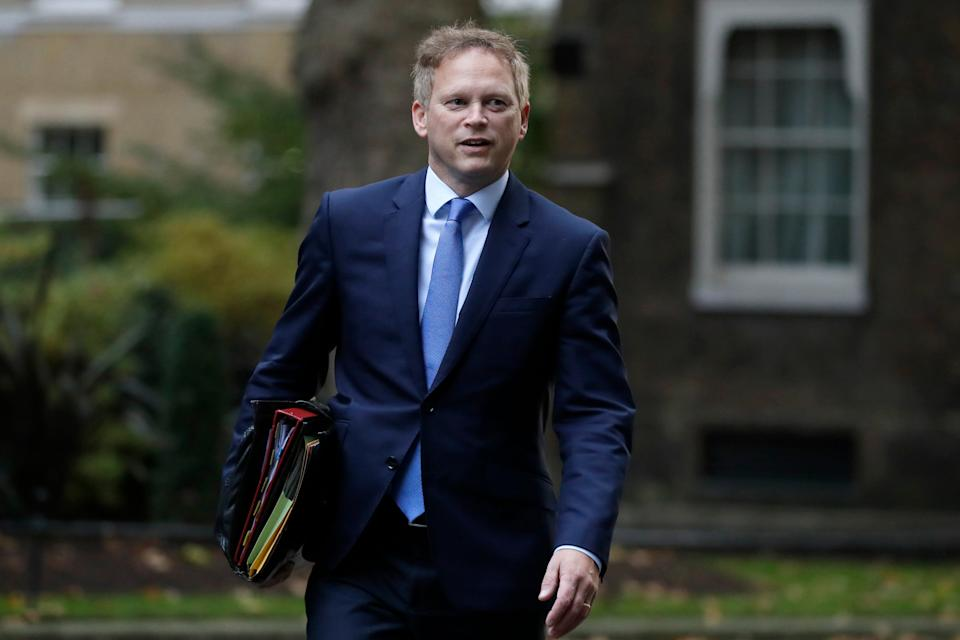<p>Transport Secretary Grant Shapps </p>AP