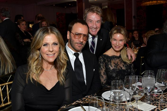 Rita Wilson, Tom Ford, Martin Short and honoree Renée Zellweger at WCRF's An Unforgettable Evening gala