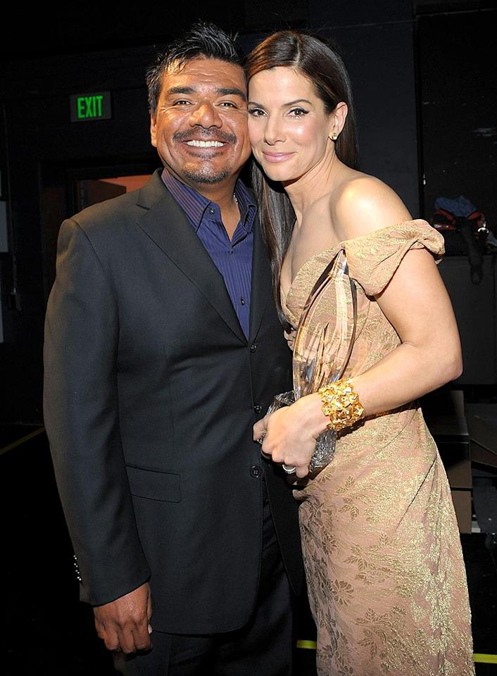 """The <i>Chicago Sun-Times</i> reports that """"despite big pitches, allegedly from producers for Oprah Winfrey, Barbara Walters and Larry King,"""" Sandra Bullock will instead appear on George Lopez's late-night show to discuss her husband Jesse James' cheating ways. Although they <i>are</i> best buds, is Bullock really planning to dish on Lopez's show? Log onto <a href=""""http://www.gossipcop.com/sandra-bullock-no-interview-george-lopez-tonight-november/"""">Gossip Cop</a> for the entire inside story. Michael Buckner/<a href=""""http://www.gettyimages.com/"""" target=""""new"""">GettyImages.com</a> - January 6, 2010"""