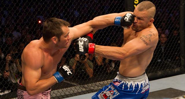 Chuck Liddell hasn't fought since being knocked out by Rich Franklin during UFC 115 at GM Place on June 12, 2010, in Vancouver, Canada. (Getty Images)