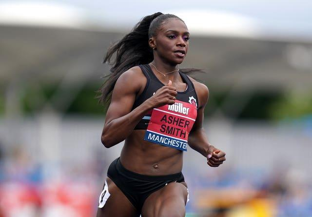 Dina Asher-Smith during her race