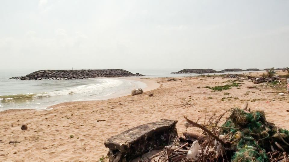 The beach where the ambergris was found. Source: ViralPress/Australscope