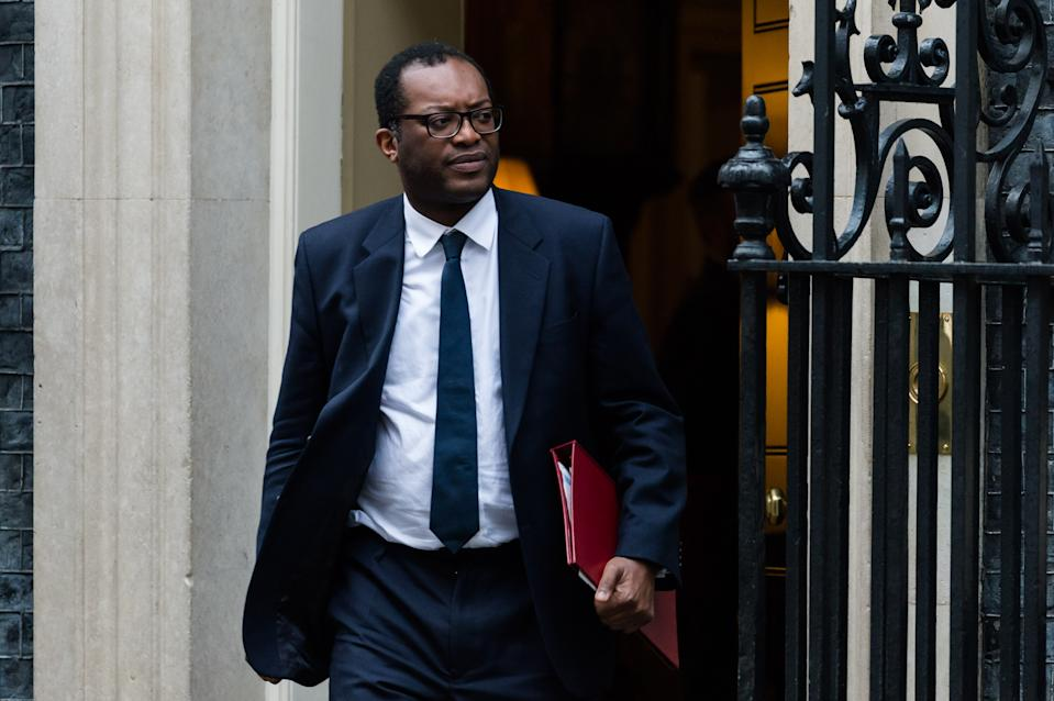 UK's business secretary Kwasi Kwarteng leaves 10 Downing Street in London after attending a Cabinet meeting. Photo: Wiktor Szymanowicz/Barcroft Media via Getty