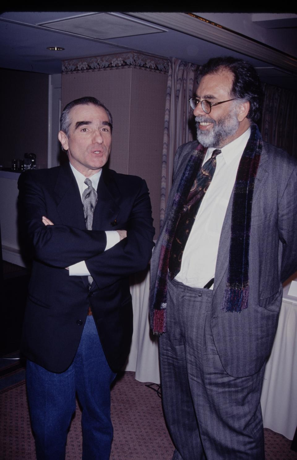 UNITED STATES - Directors Martin Scorsese (left) and Francis Ford Coppola  (Photo by The LIFE Picture Collection via Getty Images)