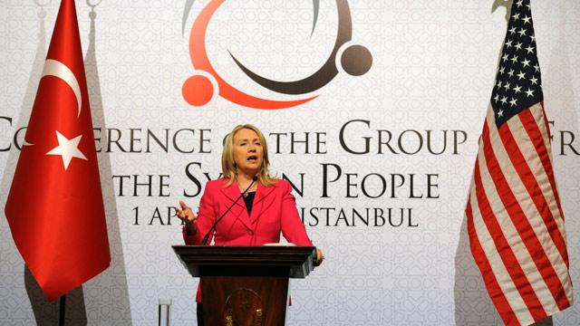 Secretary Clinton Says Syrian President Assad 'Must Go'
