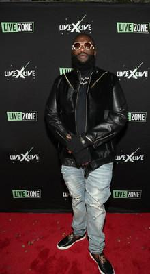 Rick Ross arrives at the Peppermint Club in West Hollywood, California for