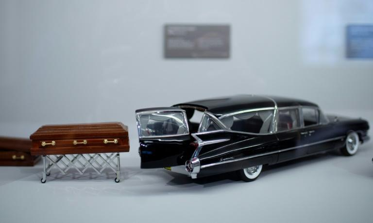 A hears miniature is on display at the Funeral Museum in Vienna