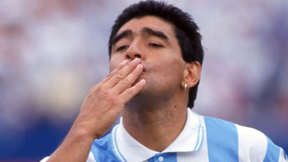 Maradona se despediu das Copas do Mundo em 1994. | Alessandro Sabattini/Getty Images