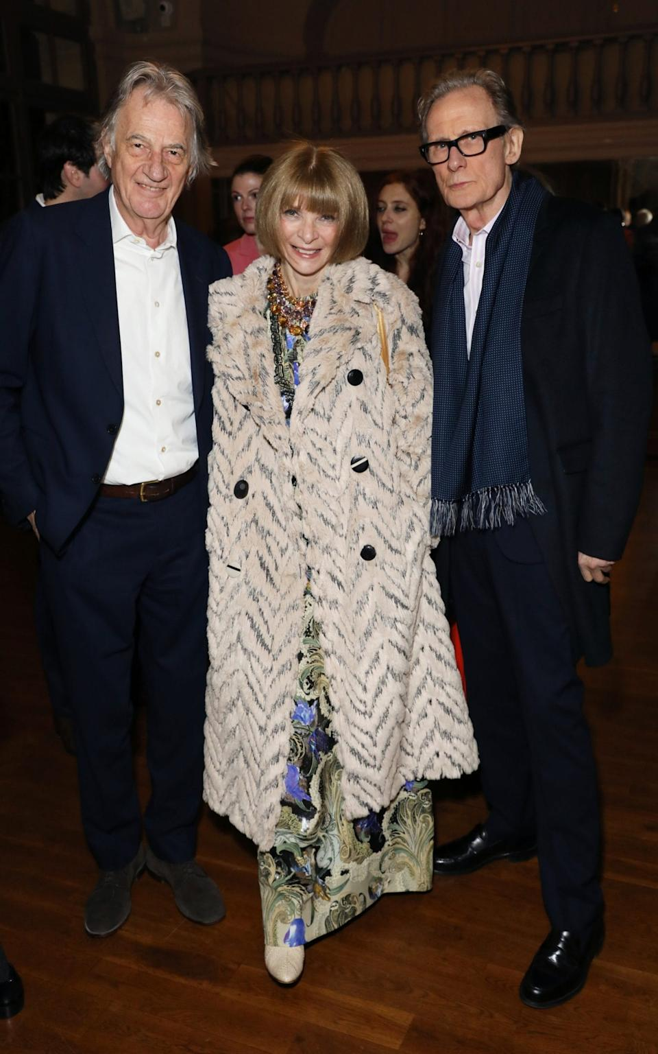 anna wintour paul smith bill nighy - Getty Images