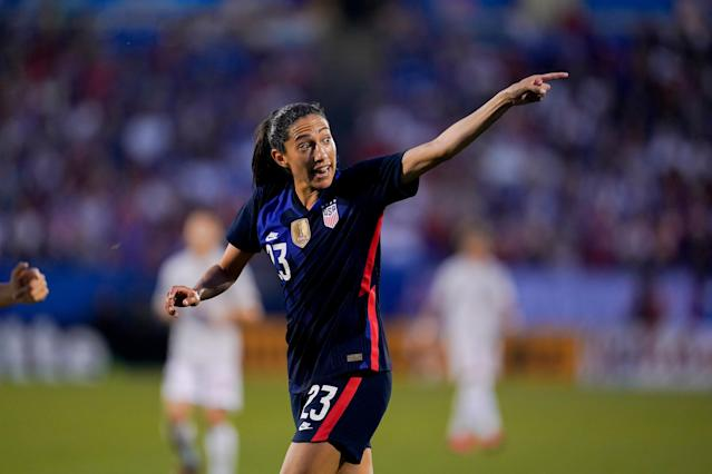 Christen Press has been one of the USWNT's best players in the team's latest competitions. (Photo by Brad Smith/ISI Photos/Getty Images)