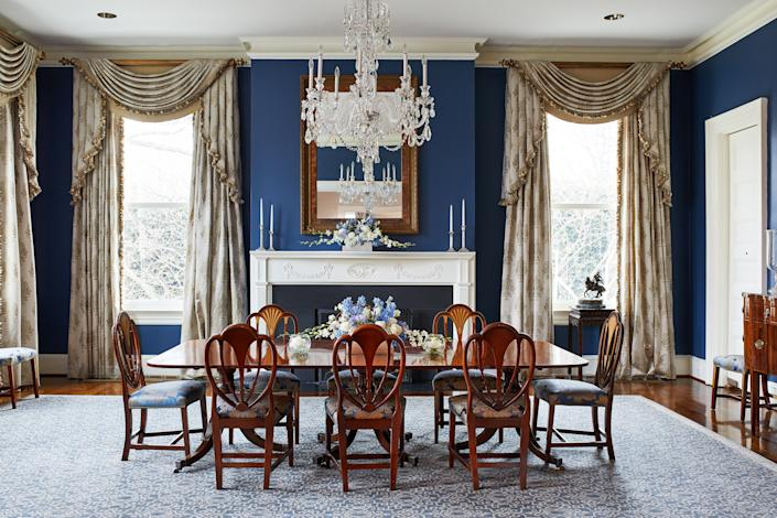 The dining room at Number One Observatory Circle in 2018. (Photo: The Washington Post via Getty Images)