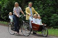 """<div class=""""caption-credit""""> Photo by: amsterdamcycyclechic.com</div>The Dutch love their bikes. Here's the royal family out for a spin."""