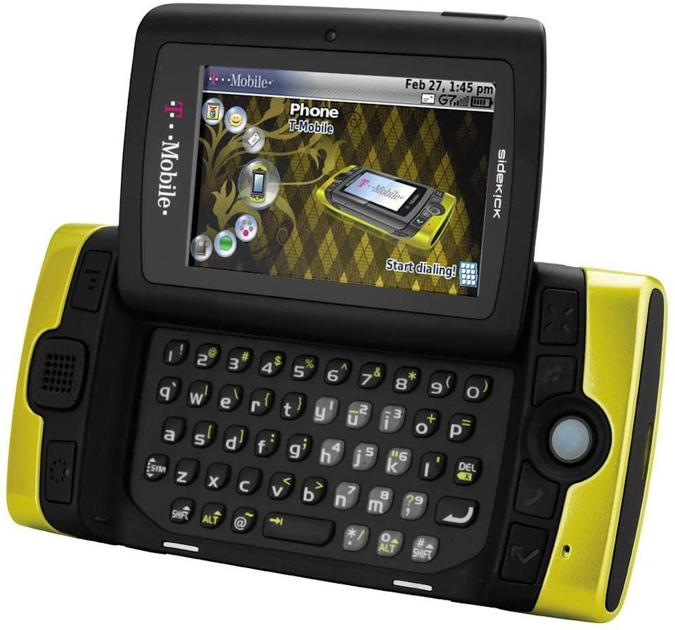 "<p>Before iPhone's were all the rage, you very desperately wanted a sidekick. The way it kick-flipped it's way up to reveal the keyboard was the textbook definition of a chef's kiss. If you're feeling like trading in your iPhone <a href=""https://www.ebay.com/itm/Sharp-SideKick-PV300-Mobile-Phone-T-Mobile-mint-condition/284052943600?hash=item4222dff2f0:g:tH4AAOSwPhtfkH~W"" rel=""nofollow noopener"" target=""_blank"" data-ylk=""slk:for one of these"" class=""link rapid-noclick-resp"">for one of these</a>, it's going to ring you up to $280. </p>"