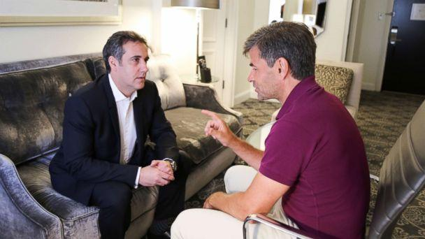 PHOTO: ABC News' George Stephanopoulos interviewing Michael Cohen, who was formerly an attorney for President Donald Trump. (ABC News)