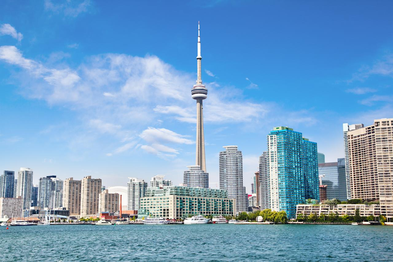 Visit Toronto's architectural masterpiece for a 360 degree view of the city. [Photo: Getty]