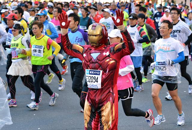 "The Boerne 0.5K is a ""race"" that has a smoking section and encourages costumes, and it's the best thing ever. (YOSHIKAZU TSUNO/AFP/Getty Images)"