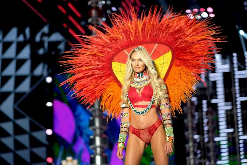The mum stunned on the VS runway in China. Photo: Getty